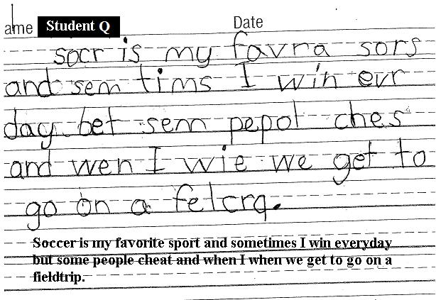 student writing samples Of course, if you're a new teacher like me, there is one problem with providing mentor texts to my students: i have a dearth of middle school level writing sitting around in my file cabinets fortunately, the internet is full of sources, so i scoured the bowels of google to find examples i know how busy you are,.